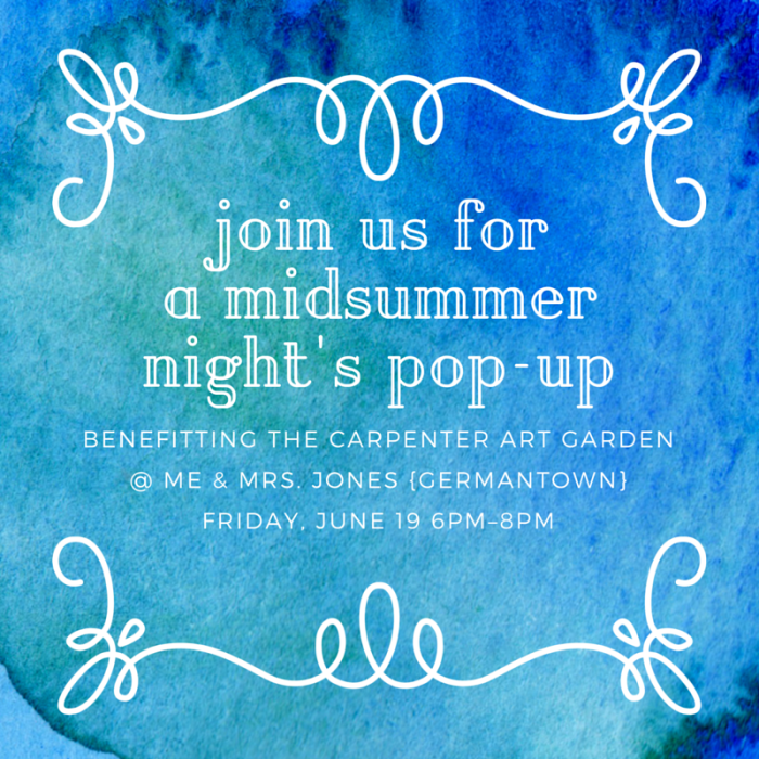 a midsummernight's pop-up