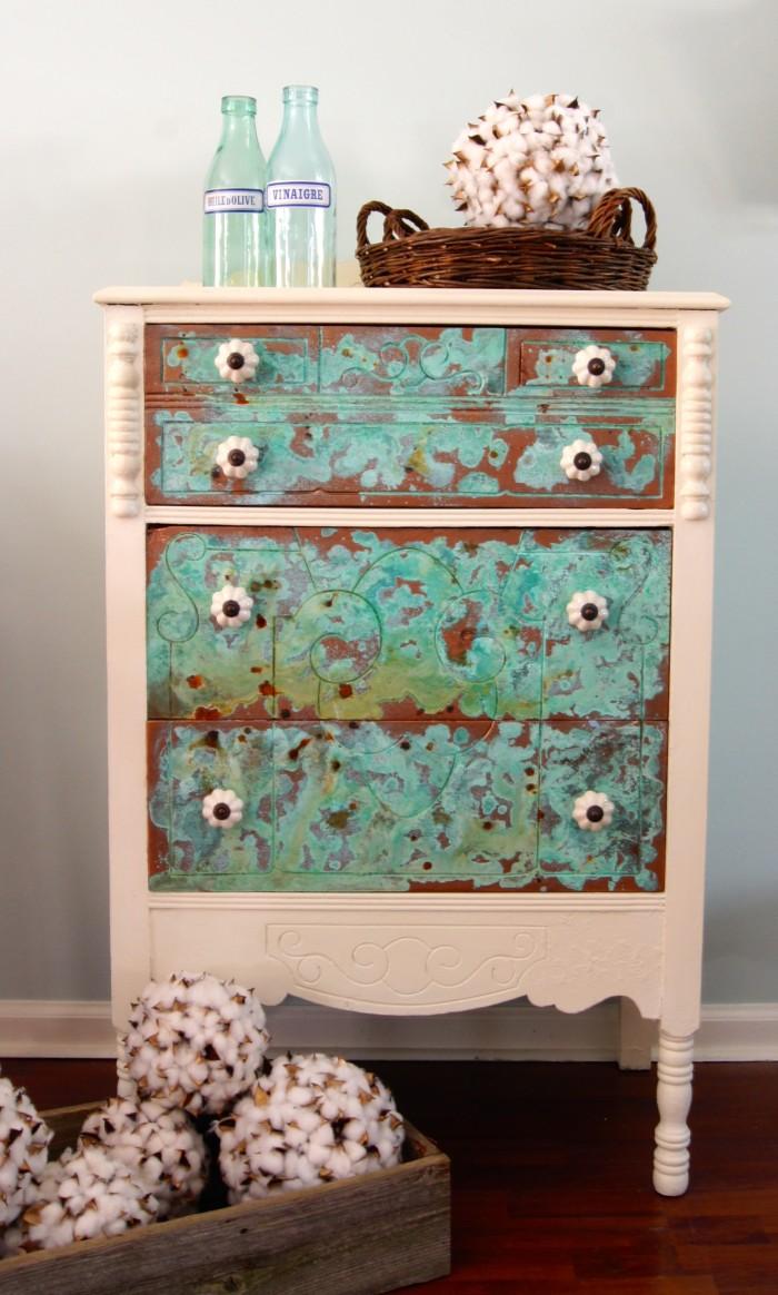 copper dresser - after